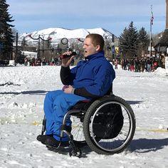 Singer of National Anthem, Kyle Taulman, at Steamboat Winter Carnival © 2017 Skijor International, LLC