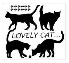Cat Shelf Lovely Cat vinil Decal Wall Stickers Art by TomDecals