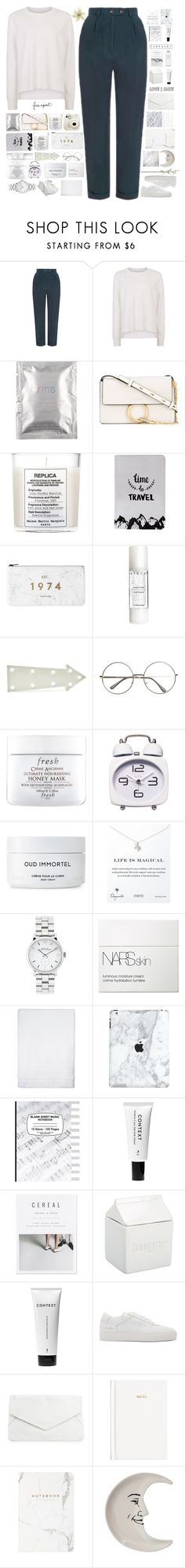 """""""all i love"""" by katerinxx ❤ liked on Polyvore featuring Topshop, Sweaty Betty, rms beauty, Chloé, Maison Margiela, Fujifilm, Chantecaille, New Look, Fresh and Byredo"""