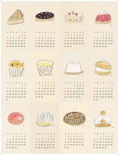2009 カレンダー Creative Calendar, Calendar Design, Japan Illustration, Little Doodles, Clear Card, Japanese Design, Comfortfood, Illustrations And Posters, Name Cards