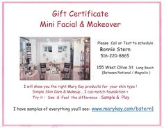 My Small Business Saturday offer is 25 % Off Gift Certificates Please call/text 516-220-8865  :)