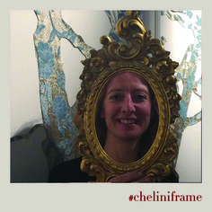 Teresa Cinque, the author of #VelvetParty art installation, for #cheliniframe
