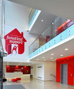 rackspace office morgan. Morgan Lovell Paints The New Rackspace Office Red, With Flamboyant British-flavored Design! | Designs, Interiors And Spaces
