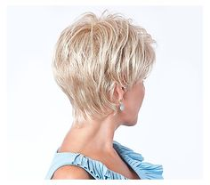 The Toni Brattin Jazzy Wig features a modern, on-trend custom cut that reflects fashion and style made easy. Short Hair Back View, Short Hair With Layers, Long Layered Hair, Short Hair Cuts For Women, Medium Thin Hair, Medium Hair Styles, Short Hair Styles, My Hairstyle, Wig Hairstyles