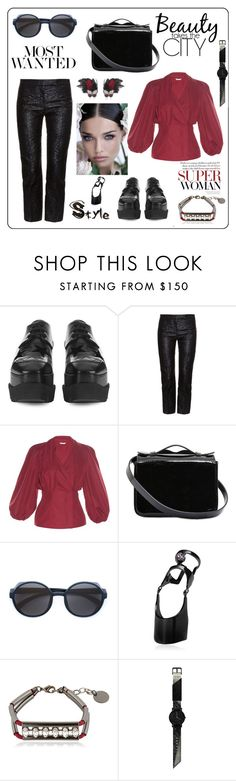 """Most wanted...."" by zabead ❤ liked on Polyvore featuring STELLA McCARTNEY, Alexander McQueen, Fendi, Yazbukey, Gianvito Rossi, Mykita, Maria Francesca Pepe, Anton Heunis, South Lane and Kikijewels"