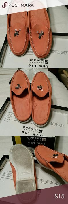 Sperry Top sider suede slides Cantaloupe melon colored suede Sperry Top-Sider Shoes Flats & Loafers