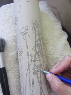 Eunice Botes: Best part of creating a new piece is drawing/incising into the wet clay! http://eunicebotes.co.za/wp/blog/category/porcelain/