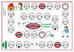 La oca de la boca Oral Motor Activities, English Activities, Speech Therapy Activities, Speech Language Pathology, Speech And Language, Classroom Activities, Speech And Hearing, Apraxia, Gross Motor Skills