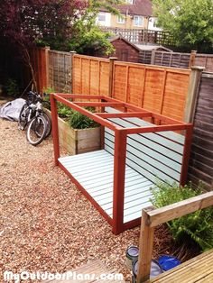 DIY Bike Shed | MyOutdoorPlans | Free Woodworking Plans and Projects, DIY Shed, Wooden Playhouse, Pergola, Bbq