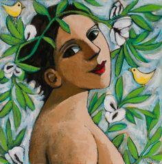 Birds in the Bean Flowers - Anita Klein