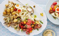A melody of delicate, garlicky and salty, this is a home cook's version of a Provençal grand aioli, a meal in itself.