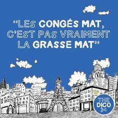 """""""Les congés mat c'est pas vraiment la grasse mat'""""  Wait what?  #apocopes #thedico #FLE # #dico #grassemat #congesmat"""