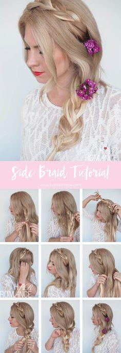 Summer dreaming side braid hairstyle tutorial