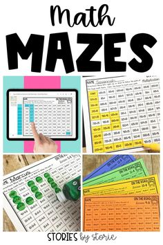 Math fact practice can be fun and engaging with math mazes. Students identify and color true math facts to follow the maze from start to finish. There are printable and digital math mazes for addition, subtraction, multiplication, and division. These are great for math centers, morning work, fast finishers, homework, and more. You can even try a free sample! Math Resources, Math Activities, Math Fact Practice, Fast Finishers, Math Facts, Morning Work, Multiplication, Teaching Tips, Math Centers