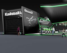 """Check out new work on my @Behance portfolio: """"Kawasaki concept booth"""" http://be.net/gallery/51459371/Kawasaki-concept-booth"""