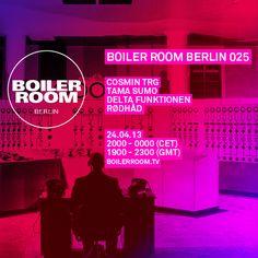 Boiler Room Berlin 025/ Cosmin TRG, Tama Sumo, Delta Funktionen & Rødhåd