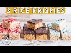 3 RICE KRISPIES TREATS with Chocolate Layers for #BuzyBeez - YouTube