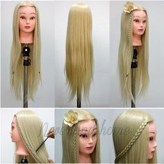 Hair Extensions & Wigs Wig Stands Competent Color Training Mannequin Head Female Hair Head Doll 22 Inches Mannequin Doll Head Hairdressing Training Heads Styling