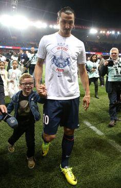 Zlatan Ibrahimovic with his son; too cute