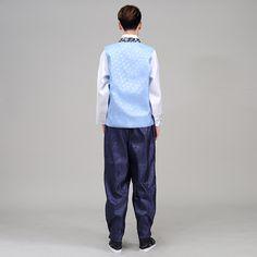 2016 Νέα άνδρες Hanbok Κοστούμι Top + παντελόνι + γιλέκο 3 Κομμάτια  Κορεατική Hanbok Άνδρες Κορεάτικα Παραδοσιακά Ενδύματα Στάδιο Χορός  Κοστούμια Απόδοσης 8 5b00699d54e