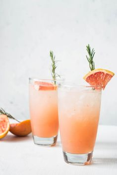 This non alcoholic grapefruit rosemary spritzer is a refreshing drink to serve on warmer days or brunch. An elegant drink with savory notes of rosemary.
