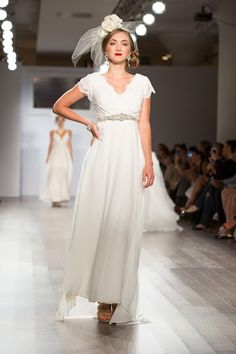 Jaime Elyse Couture --New York Fashion Week Wedding Gowns With Sleeves, Fashion Week 2015, Elle Magazine, Layered Skirt, Bridesmaid Dresses, Wedding Dresses, Couture Collection, Flower Girl Dresses, Troy
