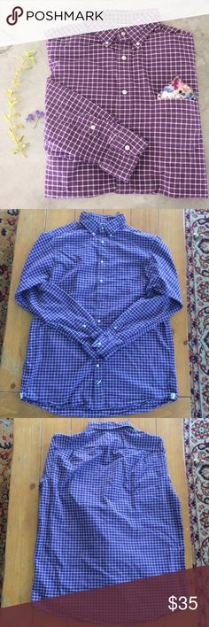 NW/OT Purple Plaid Oxford Button Down CREMIEUX: Purple Plaid pattern button down. Long Tall sizing. 100% cotton. Two extra front buttons, one extra sleeve button. Never worn. (My guy does not like colorful shirts 😬). Ask me anything! Shirts
