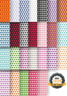 Colorful polka dots 26 paterns of medium size dots by AnOldTrumpet