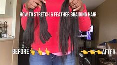 Quick video showing how to cut, stretch and feather the ends of kanekalon braiding hair that comes in really long lengths and get rid of blunt ends. Trendy Hairstyles, Braided Hairstyles, Expression Braiding Hair, Kanekalon Braiding Hair, Micro Braids, Braid In Hair Extensions, Coily Hair, African American Hairstyles, Stretches
