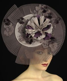 Gray and Lavender by Vivien Sheriff #millinery #judith #hats