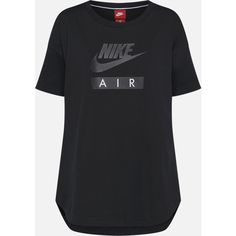 Nike Sportswear T-Shirt 'W Nsw Top Logo Air' ($47) ❤ liked on Polyvore featuring tops, t-shirts, nike tee, logo top, logo t shirts, nike tops and logo tee
