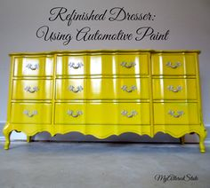 refinished french provincial high gloss furniture automotive paint, chalk paint, painted furniture, After Painting Fabric Furniture, Paint Furniture, Furniture Projects, Car Painting, French Furniture, Vintage Furniture, Wooden Kitchen Cabinets, Dresser Refinish, Do It Yourself Furniture