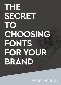 If you don't know how to choose typography or fonts for your brand or website this blog post is for you. I'm breaking down how to choose fonts that fit your brand and make your brand stand out. Save this post for later!