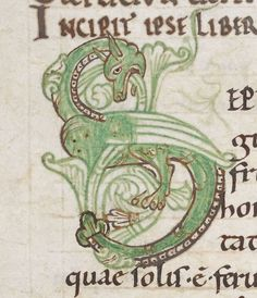 Beady Eye, Dragon Images, Medieval Manuscript, 11th Century, Dragons, Ms, Graphics, Journal, In This Moment
