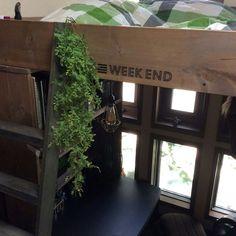 3.7畳極狭部屋★DIYで作れるシステムベッド狭いからこその極楽空間☀