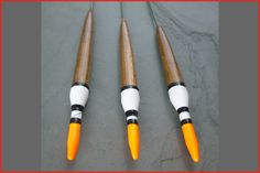 5BB, 7BB, 9BB These floats are available in three different weights and are ideal for trotting rivers. Wire stem reduces drag when held back and makes the floats semi self cocking. These floats are attached top and bottom using silicon bands (not provided). These floats are made to order - please allow 7 days for delivery Suitable for: River fishing. Good all rounders. Roach, Rudd, Chub. Materials: Balsa body, ...