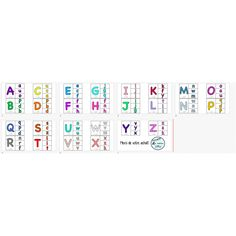 Associations des lettres majuscules et minuscules Periodic Table, Creations, Uppercase And Lowercase Letters, Index Cards, Periodic Table Chart, Periotic Table