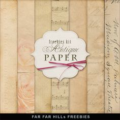 Far Far Hill: New Freebies Kit of Backgrounds - Antique Paper