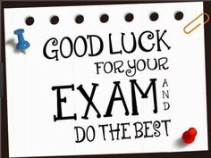 When Exams are near every student have the same condition, They are nervous and in fear, They need inspirational best Exam Wishes from their loved ones. Write a sweet wish for someone who is reelin… Exam Wishes Quotes, Exam Good Luck Quotes, Exam Wishes Good Luck, Best Wishes For Exam, Good Luck For Exams, Good Wishes Quotes, Exam Quotes, Study Quotes, Good Luck To You