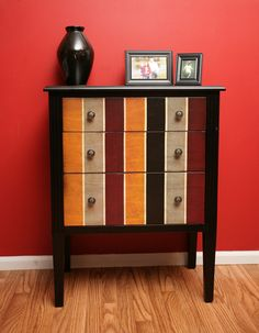 Pier 1 Lawson Chest against an accent wall