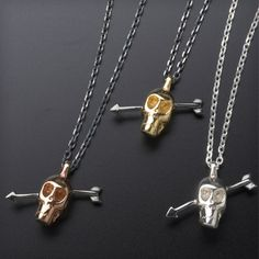 Tina Lilienthal Skull with Arrow Necklace-£66 http://www.cottonandgems.com/jewellery/necklaces/tina-lilienthal-skull-with-arrow-necklace