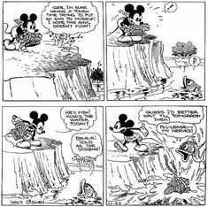 The Incredible Comedy (and Suicide Attempts) of 'Mickey Mouse' by Floyd Gottfredson Mickey House, Mickey Mouse Art, Classic Mickey Mouse, Old Cartoons, Classic Cartoons, Vintage Mickey, Vintage Cartoon, Doodle Cartoon, Mickey Christmas