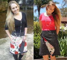 Reversible Wrap Skirt Pattern - 2 skirts in 1 by braidcraft on Etsy https://www.etsy.com/listing/75580362/reversible-wrap-skirt-pattern-2-skirts