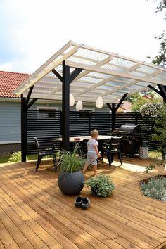Backyard Bar, Backyard Patio Designs, Pergola Patio, Gazebo, Farm Gardens, Outdoor Gardens, Shade Structure, Garden Buildings, The Fresh