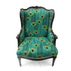 I love this chair!  I love the shape, the pattern and the colors.
