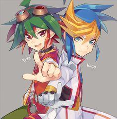 Yu-Gi-Oh arc V - Yuya and Yugo