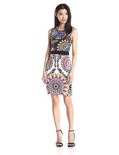 14, Black, Desigual Women's Vest_bianca Sleeveless Dress NEW