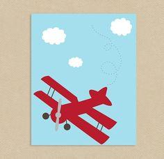Little Aviator Wall Art  #nursery #kids #printable #wallart