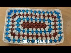 CROCHET GRANNY RECTANGLE - YouTube