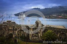 Photo about Spanish Navy Tall Ship Juan Sebastian Elcano Arrival to Ferrol`s estuary in Galicia Spain. Image of belgium, boat, church - 106432866 Tall Ships, Belgium, Sailing, Spanish, Boat, Stock Photos, Navy, Places, Travel